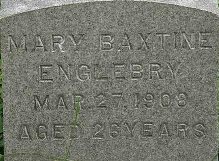 BAXTINE ENGLEBRY, MARY - Erie County, Ohio | MARY BAXTINE ENGLEBRY - Ohio Gravestone Photos