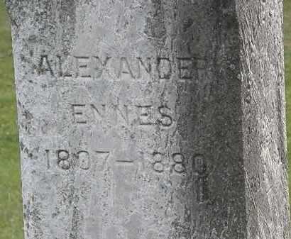 ENNES, ALEXANDER - Erie County, Ohio | ALEXANDER ENNES - Ohio Gravestone Photos