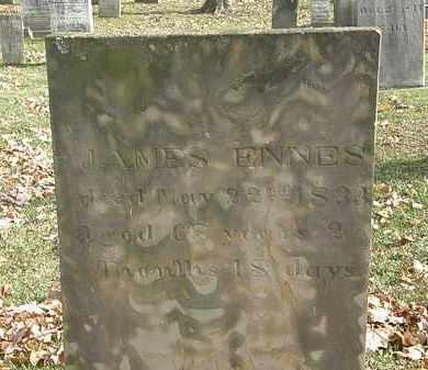 ENNES, JAMES - Erie County, Ohio | JAMES ENNES - Ohio Gravestone Photos