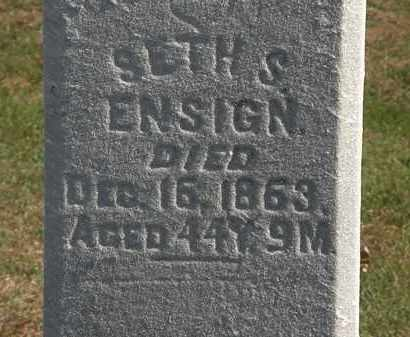 ENSIGN, SETH S. - Erie County, Ohio | SETH S. ENSIGN - Ohio Gravestone Photos