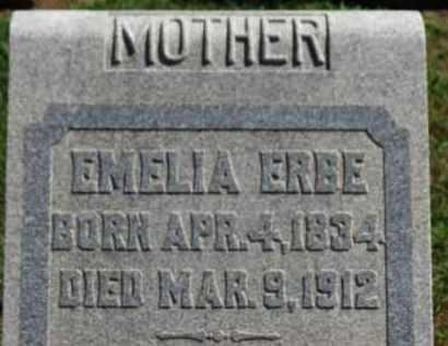 ERBE, EMELIA - Erie County, Ohio | EMELIA ERBE - Ohio Gravestone Photos