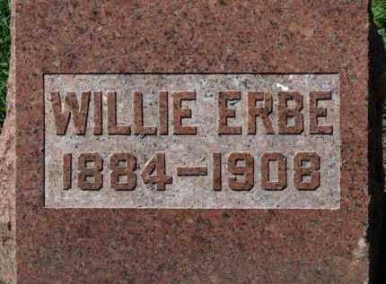 ERBE, WILLIE - Erie County, Ohio   WILLIE ERBE - Ohio Gravestone Photos