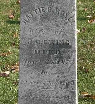 ROYCE EWING, HATTIE B. - Erie County, Ohio   HATTIE B. ROYCE EWING - Ohio Gravestone Photos