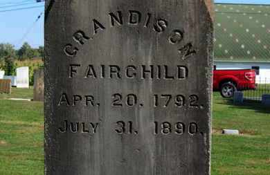 FAIRCHILD, GRADISON - Erie County, Ohio | GRADISON FAIRCHILD - Ohio Gravestone Photos