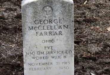 FARRAR, GEORGE MCCLELLAN - Erie County, Ohio   GEORGE MCCLELLAN FARRAR - Ohio Gravestone Photos