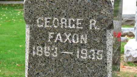 FAXON, GEORGE E. - Erie County, Ohio   GEORGE E. FAXON - Ohio Gravestone Photos