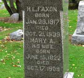 FAXON, MARY A. - Erie County, Ohio | MARY A. FAXON - Ohio Gravestone Photos
