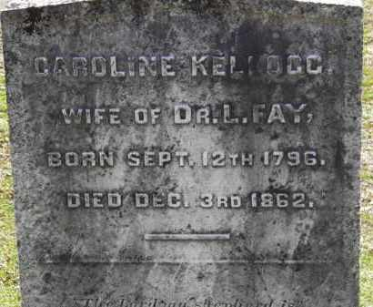 KELLOG FAY, CAROLINE - Erie County, Ohio | CAROLINE KELLOG FAY - Ohio Gravestone Photos