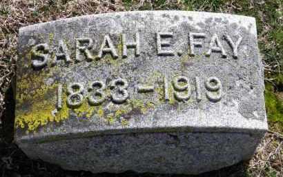 FAY, SARAH E. - Erie County, Ohio | SARAH E. FAY - Ohio Gravestone Photos