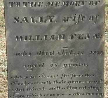 FENN, SALLY - Erie County, Ohio   SALLY FENN - Ohio Gravestone Photos