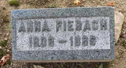 FIEBACH, ANNA - Erie County, Ohio   ANNA FIEBACH - Ohio Gravestone Photos