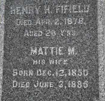 FIFIELD, MATTIE M. - Erie County, Ohio | MATTIE M. FIFIELD - Ohio Gravestone Photos