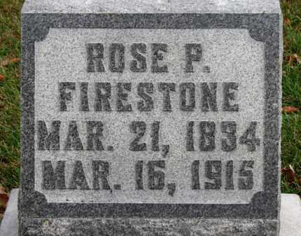 FIRESTONE, ROSE P. - Erie County, Ohio | ROSE P. FIRESTONE - Ohio Gravestone Photos