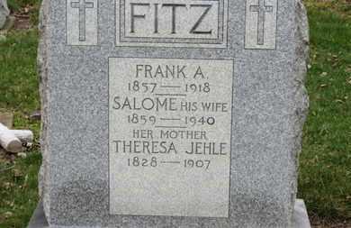 JEHLE FITZ, SALOME - Erie County, Ohio | SALOME JEHLE FITZ - Ohio Gravestone Photos