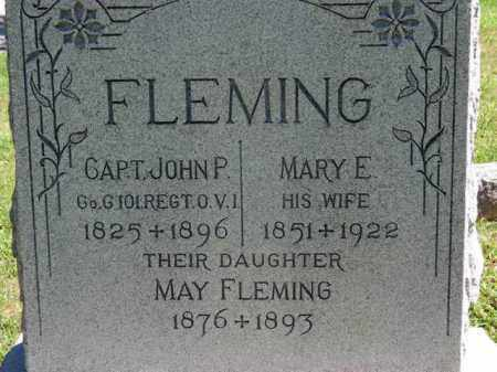 FLEMING, MARY E. - Erie County, Ohio | MARY E. FLEMING - Ohio Gravestone Photos