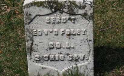 FOLEY, EDW'D - Erie County, Ohio | EDW'D FOLEY - Ohio Gravestone Photos