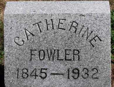 FOWLER, CATHERINE - Erie County, Ohio | CATHERINE FOWLER - Ohio Gravestone Photos
