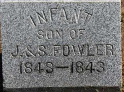 FOWLER, INFANT SON - Erie County, Ohio | INFANT SON FOWLER - Ohio Gravestone Photos