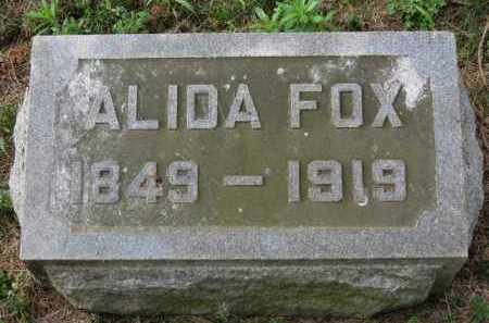 FOX, ALIDA - Erie County, Ohio | ALIDA FOX - Ohio Gravestone Photos
