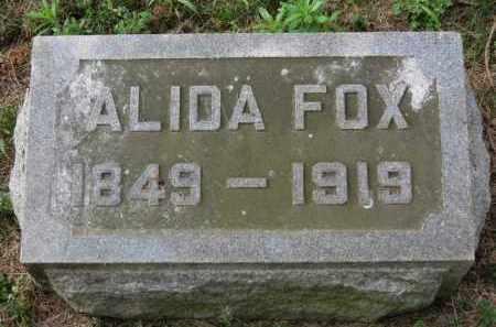 FOX, ALIDA - Erie County, Ohio | ALIDA FOX - Ohio Gravestone Photos