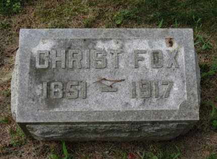 FOX, CHRIST - Erie County, Ohio   CHRIST FOX - Ohio Gravestone Photos