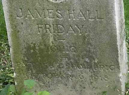 FRIDAY, JAMES HALL - Erie County, Ohio | JAMES HALL FRIDAY - Ohio Gravestone Photos