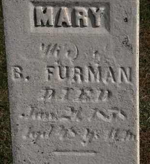 FURMAN, MARY - Erie County, Ohio | MARY FURMAN - Ohio Gravestone Photos