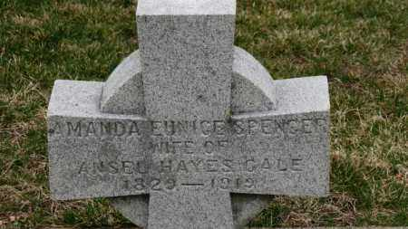 SPENCER GALE, AMANDA EUNICE - Erie County, Ohio | AMANDA EUNICE SPENCER GALE - Ohio Gravestone Photos