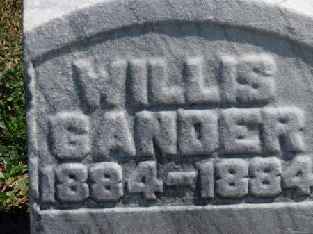 GANDER, WILLIS - Erie County, Ohio | WILLIS GANDER - Ohio Gravestone Photos