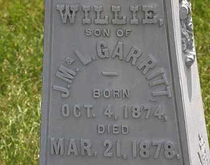 GARRITT, WILLIE - Erie County, Ohio | WILLIE GARRITT - Ohio Gravestone Photos