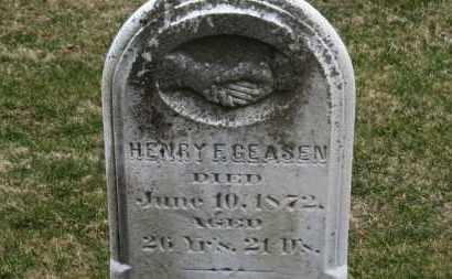 GEASEN, HENRY F. - Erie County, Ohio   HENRY F. GEASEN - Ohio Gravestone Photos
