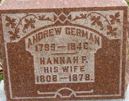 GERMAN, ANDREW - Erie County, Ohio | ANDREW GERMAN - Ohio Gravestone Photos