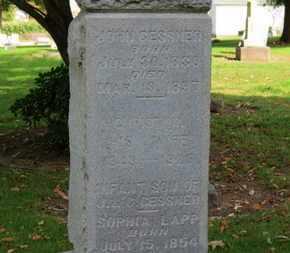 GESSNER, JOHN - Erie County, Ohio | JOHN GESSNER - Ohio Gravestone Photos