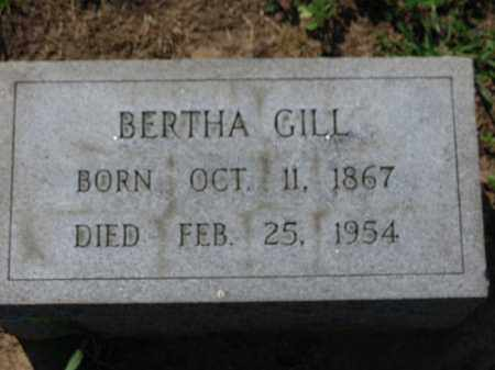GILL, BERTHA - Erie County, Ohio | BERTHA GILL - Ohio Gravestone Photos
