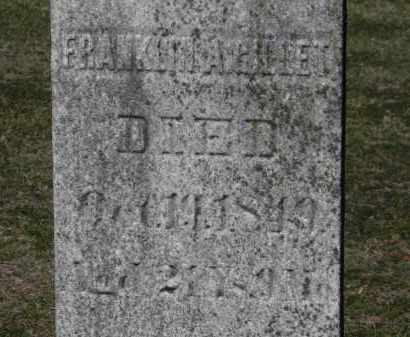 GILLET, FRANKLIN A. - Erie County, Ohio | FRANKLIN A. GILLET - Ohio Gravestone Photos