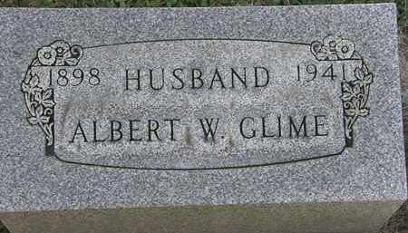 GLIME, ALBERT W. - Erie County, Ohio | ALBERT W. GLIME - Ohio Gravestone Photos