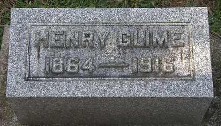 GLIME, HENRY - Erie County, Ohio   HENRY GLIME - Ohio Gravestone Photos