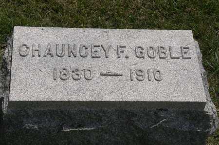 GOBLE, CHAUNCEY F. - Erie County, Ohio   CHAUNCEY F. GOBLE - Ohio Gravestone Photos