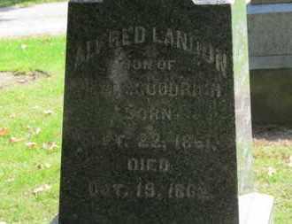 GOODRICH, ALFRED LANDON - Erie County, Ohio   ALFRED LANDON GOODRICH - Ohio Gravestone Photos