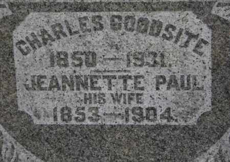PAUL GOODSITE, JEANNETTE - Erie County, Ohio | JEANNETTE PAUL GOODSITE - Ohio Gravestone Photos