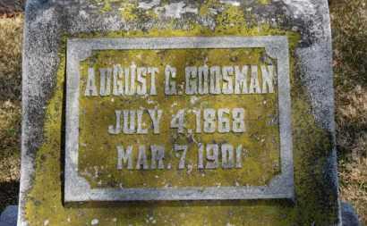 GOOSMAN, AUGUST G. - Erie County, Ohio   AUGUST G. GOOSMAN - Ohio Gravestone Photos