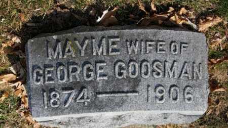 GOOSMAN, MAYME - Erie County, Ohio   MAYME GOOSMAN - Ohio Gravestone Photos
