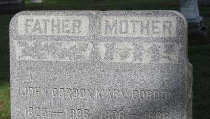 GORDON, MARY - Erie County, Ohio | MARY GORDON - Ohio Gravestone Photos