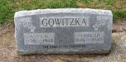 GOWITZKA, REINHOLD - Erie County, Ohio | REINHOLD GOWITZKA - Ohio Gravestone Photos