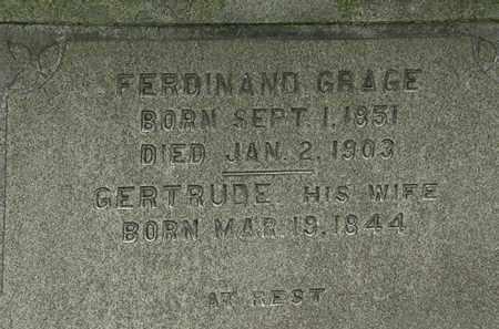 GRACE, GERTRUDE - Erie County, Ohio   GERTRUDE GRACE - Ohio Gravestone Photos