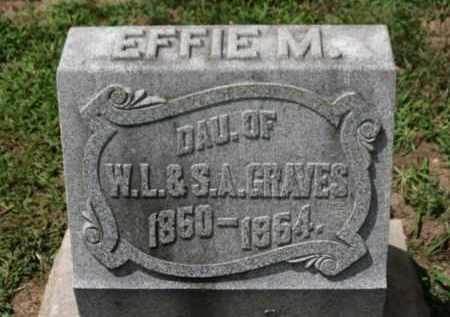 GRAVES, EFFIE M. - Erie County, Ohio | EFFIE M. GRAVES - Ohio Gravestone Photos