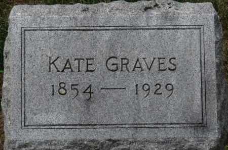 GRAVES, KATE - Erie County, Ohio   KATE GRAVES - Ohio Gravestone Photos