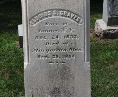 GRAVES, LUSIUS S. - Erie County, Ohio   LUSIUS S. GRAVES - Ohio Gravestone Photos