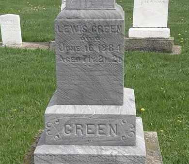 GREEN, LEWIS - Erie County, Ohio   LEWIS GREEN - Ohio Gravestone Photos