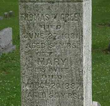 GREEN, THOMAS - Erie County, Ohio | THOMAS GREEN - Ohio Gravestone Photos